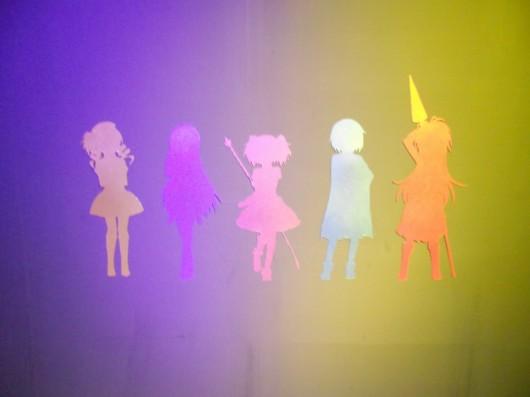 魔法少女達の切り絵